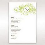 Green Sophisticataed Vintage Swirls - Menu Cards - Wedding Stationery - 52