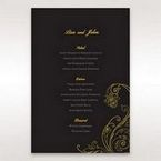 Black Urban Chic with Gold Swirls - Menu Cards - Wedding Stationery - 8