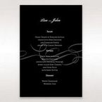 Black Traditional Birde and Groom - Menu Cards - Wedding Stationery - 37