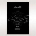 Black Traditional Birde and Groom - Menu Cards - Wedding Stationery - 37