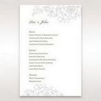 Green Romatic Couture with Pearls - Menu Cards - Wedding Stationery - 15