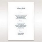 Blue Classic Embossed with a Brooch - Menu Cards - Wedding Stationery - 63