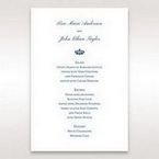 Blue Jeweled Borders - Menu Cards - Wedding Stationery - 66