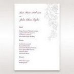 Pink Embossed Romantic Couture, Pink - Menu Cards - Wedding Stationery - 63
