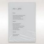 Silver/Gray Elegant Swirls; Silver & White - Menu Cards - Wedding Stationery - 7