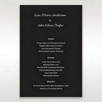Black Laser Peacock Laser Cut Pocket With Foil - Menu Cards - Wedding Stationery - 10
