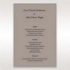 Silver/Gray Laser Peacock Laser Cut Pocket With Foil - Menu Cards - Wedding Stationery - 75