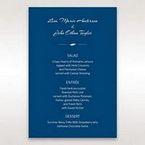 Blue Flower Sash I Laser Cut  - Menu Cards - Wedding Stationery - 7