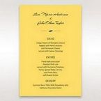 Yellow/Gold Mystic Forest Band Laser Cut - Menu Cards - Wedding Stationery - 15