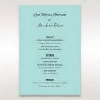 Blue Laser Wild Roses Laser Cut Wrap - Menu Cards - Wedding Stationery - 98
