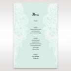 Blue Laser Cut Floral Pocket - Menu Cards - Wedding Stationery - 85