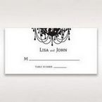 Black Black, White Chandelier - Place Cards - Wedding Stationery - 40