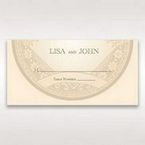 Yellow/Gold Around the Globe with Love - Place Cards - Wedding Stationery - 60