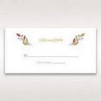 White Wild Floral Wreath - Place Cards - Wedding Stationery - 0