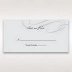 Silver/Gray Traditional Birde and Groom - Place Cards - Wedding Stationery - 79