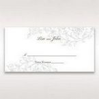 Green Romatic Couture with Pearls - Place Cards - Wedding Stationery - 28