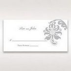 Blue Handmade Jeweled Floral - Place Cards - Wedding Stationery - 68
