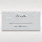 Silver/Gray Elegant Swirls; Silver & White - Place Cards - Wedding Stationery - 21