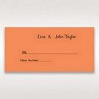 Orange Laser Peacock Laser Cut Pocket With Foil - Place Cards - Wedding Stationery - 71