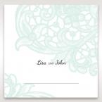 Blue Laser Cut Floral Pocket - Place Cards - Wedding Stationery - 37
