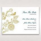 Yellow/Gold Splendid Golden Swirls - Save the Date - Wedding Stationery - 64