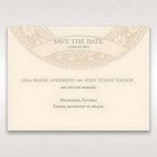 Yellow/Gold Around the Globe with Love - Save the Date - Wedding Stationery - 35