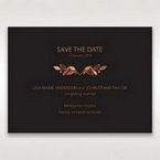 Black Wild Floral Wreath - Save the Date - Wedding Stationery - 76