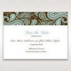 Blue Vintage Swirls - Save the Date - Wedding Stationery - 13
