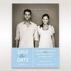 Blue Side by Side - Save the Date - Wedding Stationery - 19