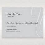 Silver/Gray Elegant Swirls; Silver & White - Save the Date - Wedding Stationery - 90