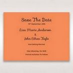 Orange Laser Peacock Laser Cut Pocket With Foil - Save the Date - Wedding Stationery - 45