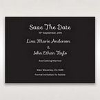 Black Laser Peacock Laser Cut Pocket With Foil - Save the Date - Wedding Stationery - 10