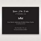 Black Vintage Rose Layered Laser Cut - Save the Date - Wedding Stationery - 70