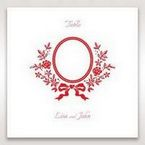 Red Old-fashioned Romance - Table Number Cards - Wedding Stationery - 29