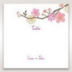 Pink Warm & Mellow Spring - Table Number Cards - Wedding Stationery - 75