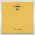 Yellow/Gold Urban Chic with Gold Swirls - Table Number Cards - Wedding Stationery - 4