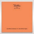 Orange Laser Peacock Laser Cut Pocket With Foil - Table Number Cards - Wedding Stationery - 23