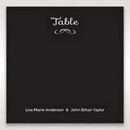 Black Laser Peacock Laser Cut Pocket With Foil - Table Number Cards - Wedding Stationery - 62