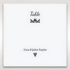White Laser Gated Elegance Laser Cut Pocket - Table Number Cards - Wedding Stationery - 88