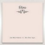White Laser Inseparable Wrap - Table Number Cards - Wedding Stationery - 68