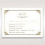 Yellow/Gold Romatic Classic - RSVP Cards - Wedding Stationery - 59