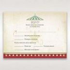 Red Big Top Celebration - RSVP Cards - Wedding Stationery - 58