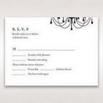 Black Black, White Chandelier - RSVP Cards - Wedding Stationery - 85