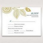 Yellow/Gold Splendid Golden Swirls - RSVP Cards - Wedding Stationery - 39
