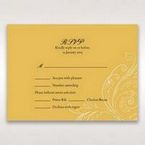 Yellow/Gold Urban Chic with Gold Swirls - RSVP Cards - Wedding Stationery - 34