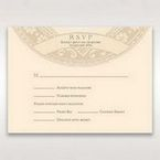 Yellow/Gold Around the Globe with Love - RSVP Cards - Wedding Stationery - 82