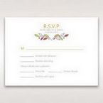 White Wild Floral Wreath - RSVP Cards - Wedding Stationery - 2