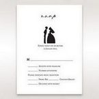 Black Traditional Birde and Groom - RSVP Cards - Wedding Stationery - 0