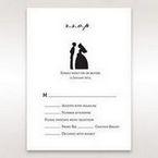 Black Traditional Birde and Groom - RSVP Cards - Wedding Stationery - 0