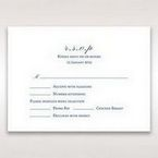 Blue Jeweled Borders - RSVP Cards - Wedding Stationery - 8